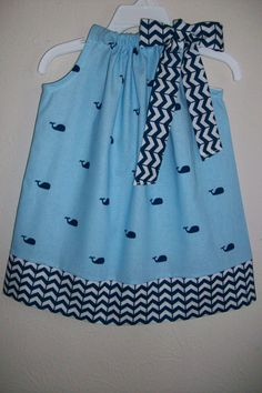 Pillowcase Dress with Whales Girls Dress by lilsweetieboutique