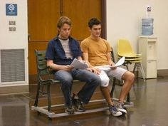 Benjamin Schrader in rehearsal for See Rock City Musicals, Stage, Destinations, Rock, City, Skirt, Locks, Cities, Batu