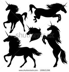 stock-photo-raster-set-of-fine-unicorn-silhouettes-running-rearing-and-jumping-magic-horses-vector-100621396.jpg (449×470)