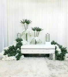 Wedding Backdrop Design, Wedding Stage Design, Wedding Reception Backdrop, Wedding Entrance, Romantic Wedding Decor, Simple Wedding Decorations, Rustic Wedding Guest Book, Pelamin Simple, Bridal Room Decor