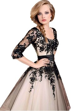 e96d71107d Amazon.com  Sexy Black Lace Ball Gown Evening Cocktail Party Prom Formal  Dress ( 8 for US1