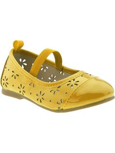 Perforated Faux-Patent Flats for Baby