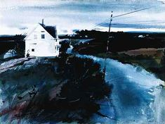 Andrew Wyeth Watercolor Paintings | Andrew Wyeth, The Roadto Friendship , 1941, watercolor. Farnsworth Art ...