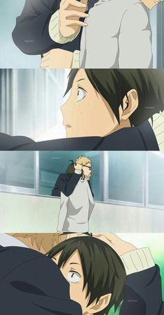 Tsukishima x Yamaguchi    Did you really take that scene from Au Haru Ride?