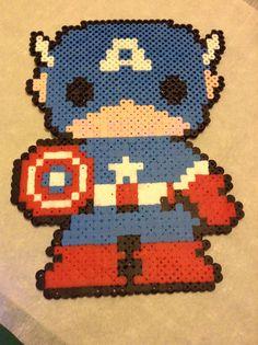 Captain America perler beads by Bre Czerlanis