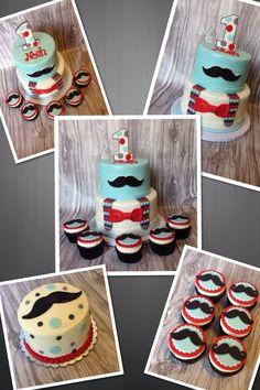 Little Gentlemen's first birthday cake. Inspired by Cuteology cakes. www.facebook.com/jenniliciousdesserts