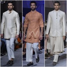 Manish Malhotra was back with another stunning collection for the opening show at the Lakme Fashion Week last night. The designer took inspiration . Mens Indian Wear, Mens Ethnic Wear, Lakme Fashion Week, Men's Fashion, Manish Malhotra, Designer Clothes For Men, Indian Designer Wear, Wedding Outfits, Chef Jackets