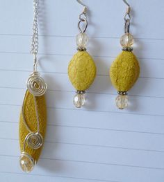 Good Morning Sunshine Necklace & Earring Set by RoseyCreek on Etsy, $20.00 Good Morning Sunshine, Pearl Earrings, Drop Earrings, Earring Set, Bling, Trending Outfits, Unique Jewelry, Handmade Gifts, Etsy