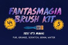 Fantasmagia Brush Kit by Squarepack on @creativemarket problem with your average texture brush is that it does not behave much like a real brush. So, we designed 5 sets of brushes that behave beautifully on your Photoshop canvas