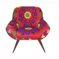 Vera Chair Suzani Bright Red, now featured on Fab.  This one too, Lynn!!!!  Gosh, I wish we were rich!!!
