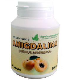 AMIGDALINA 500mg 90 kapsułek Prunus, Coconut Oil, Jar, Food, Meal, Jars, Hoods, Eten, Meals