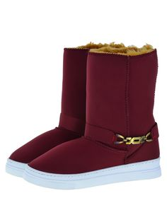 Scuba Neoprene Fabric Everest Air winter boots. Model style: Neo-Burgundy Bella