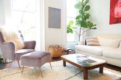 Ulla Johnson's home - lavender chair