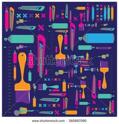 Vector colorful tools pattern