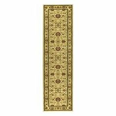 Safavieh Lyndhurst Collection LNH212L Area Runner, 2-Feet 3-Inch by 6-Feet, Ivory by Safavieh. $51.61. The high-quality polypropylene pile fiber adds durability and longevity to these rugs. This rug features an ivory background and border, and displays beautiful panel colors of green, red, ivory, rust and beige. 100% Polypropylene Pile. The powerloomed construction adds durability to this rug, ensuring it will be a favorite for many years. The traditional, mahal style of this ru...