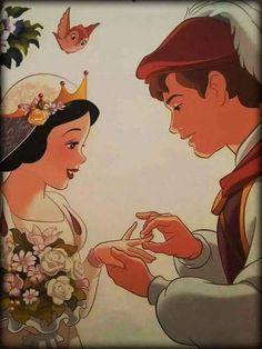 Disney wedding 👰👸👑 wedding snow white Disney wedding 👰👸👑 discovered by VAL' on We Heart It Heroes Disney, Disney Pixar, Arte Disney, Disney Marvel, Disney And Dreamworks, Disney Animation, Disney Cartoons, Disney Art, First Disney Princess