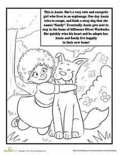 Little Orphan Annie Coloring Page Erics ORPHAN ANNIE Pinterest