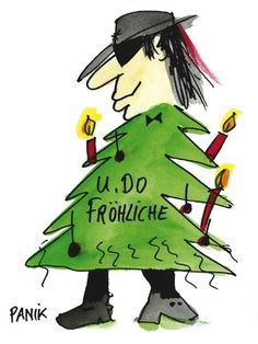 weihnachten witzig U.DO Merry Christmas greeting card by Udo Lindenberg for UNICEF - Gabriele Lassau - U.DO Merry Christmas greeting card by Udo Lindenberg for UNICEF Gabriele Lassau - Merry Christmas Greetings, Christmas Quotes, Christmas Greeting Cards, Christmas Humor, Christmas Time, Xmas, Christmas Ornaments, Popsugar, Funny Pictures