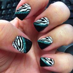 Zebra and glitter... Can't beat it!