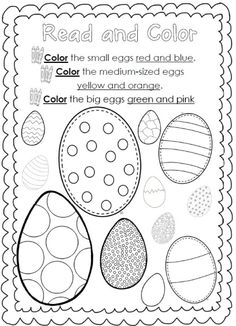 Easter Reading and Writing Worksheets