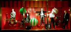 Marks and Spencer Marble Arch Mens Window 2009 - Oversized ornaments are a holiday stable in visual merchandising