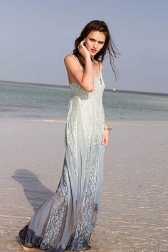 Kimchi Blue Beyond The Sea Lace-Inset Maxi Dress - Urban Outfitters