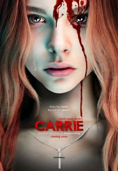 'CARRIE' (MGM/Screen Gems, is the third film adaptation of Stephen King's 1974 novel of the same name. The film stars Chloë Grace Moretz as Carrie White, and Julianne Moore as Carrie's mother, Margaret White. The movie will be released on October Horror Movie Posters, Horror Movies, Carrie Horror Movie, Scary Movies, Great Movies, Movies Free, Popular Movies, Carrie Book, Stephen King Books