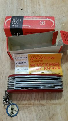 Wenger Swiss Army Knife Monarch Brand New by Wenger Swiss Army Knife, Collectible Knives, Victorinox Swiss Army, Knifes, Weapons, Brand New, Tools, The Originals, Pocket Knives