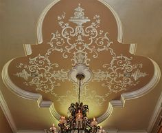Ceiling design - painted scrollwork | via Photo: williamthe.artist
