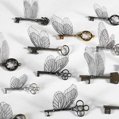 A set of flying keys with wings inspired by Harry Potter? Yes, please.