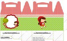 Maletinha Chapeuzinho Vermelho - Fazendo a Nossa Festa Girl Birthday, Birthday Parties, Red Riding Hood Party, Woodland Theme, Little Boxes, Little Red, Diy And Crafts, Printables, Scrapbook