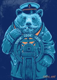 SAILOR BEAR T-shirt design for Thinkcookcook.