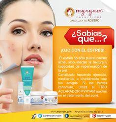 ¡OJO CON EL ESTRÉS! No dejes que el acné se adueñe de tu rostro ;)  https://twitter.com/CremasMyryam https://www.kichink.com/stores/cremas-myryam  #yolo #tips #mujeres #belleza #aclarar #productosdebelleza