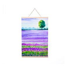 Lavender Field Poster Hanger