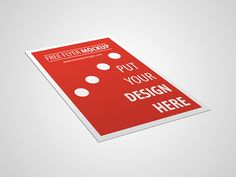 Download Free Flyer Mockup - http://www.vectorizeimages.com/free-minimalistic-flyer-mockup