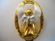 Vintage Goldtone Guardian Angel