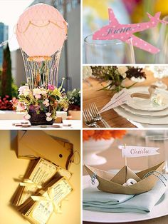 travel themed wedding #Travel #Theme #Decor Find the best Toronto and the GTA have to offer on thePWG.ca  http://www.theperfectweddingguide.com/wedding_decor.html