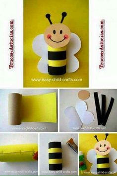 Bumble Bee Crafts Toilet Tube Toddler Crafts Toddler Activities Preschool Crafts