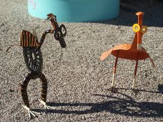 Yard Art From Junk | Yard Art,Garden Junk,Welded Art,Whimsical Art,Recycled Art