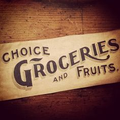 Choice Groceries And Fruits by Keith Tatum