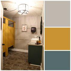 Restaurant mens room color scheme with PPG Voice of Color paint