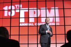 Maersk Line CEO Søren Skou during his opening keynote at #TPM2013 in Long Beach, California.