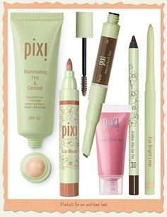 """Get the signature Pixi """"Beauty Basics"""" look with these products! #pixibeauty #makeup #beautybasics"""