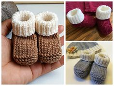 These cute baby booties are the perfect accessories for your baby! Use this newborn baby booties free knitting pattern to make your own now! Knit Baby Booties Pattern Free, Newborn Crochet Patterns, Baby Hat Knitting Pattern, Knitting Patterns Free, Free Knitting, Knitting Ideas, Knitting Socks, Knitting Designs, Baby Patterns