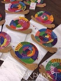Unique and creative * MAGIC POINT *: Create gifts with children - therezepte sites Crafts For Teens, Gifts For Kids, Kids Crafts, Diy And Crafts, Arts And Crafts, Paper Crafts, Spring Art, Spring Crafts, Snail Craft