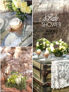 A Beautiful Bless This Nest Baby Shower by Birds Party