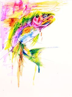 rainbows and trout | watercolor | haley badenhop