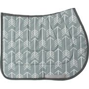 Grey and White Arrows Saddle Pad - USA MADE