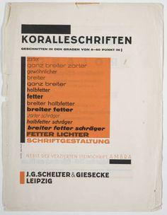 Herbert Bayer. Koralleschriften. 1926