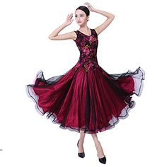 Ballroom Dance Dresses Sleeveless Practise Dance Competition Dresses Modern Waltz Tango Smooth Ballroom Dance Costumes For Women Flamenco Dresses Showcase Dance (rose,S)